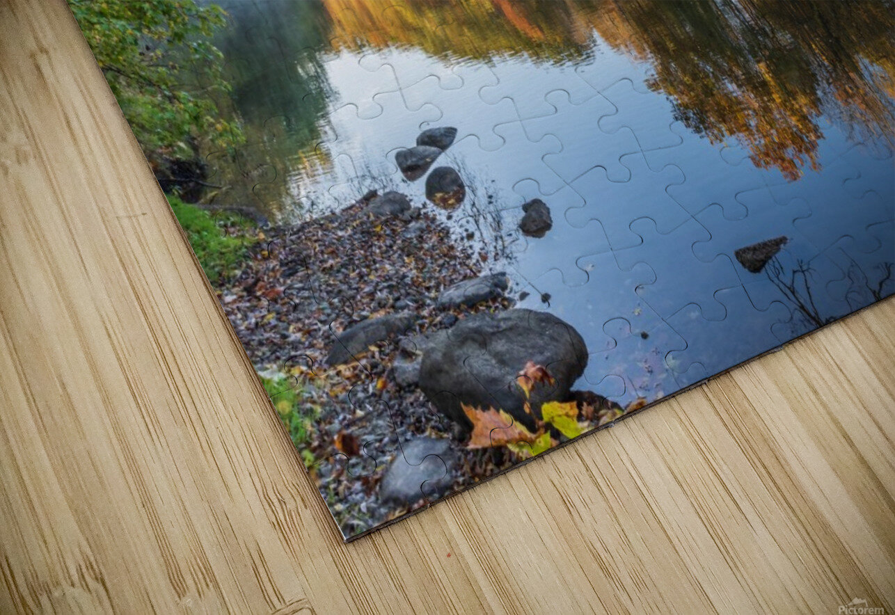 Autumn morning on the Grand River at Mechanicsville Ohio HD Sublimation Metal print