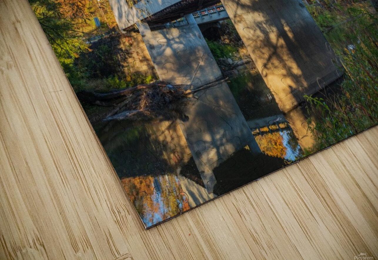 Mechanicsville covered bridge over Grand River Ohio HD Sublimation Metal print