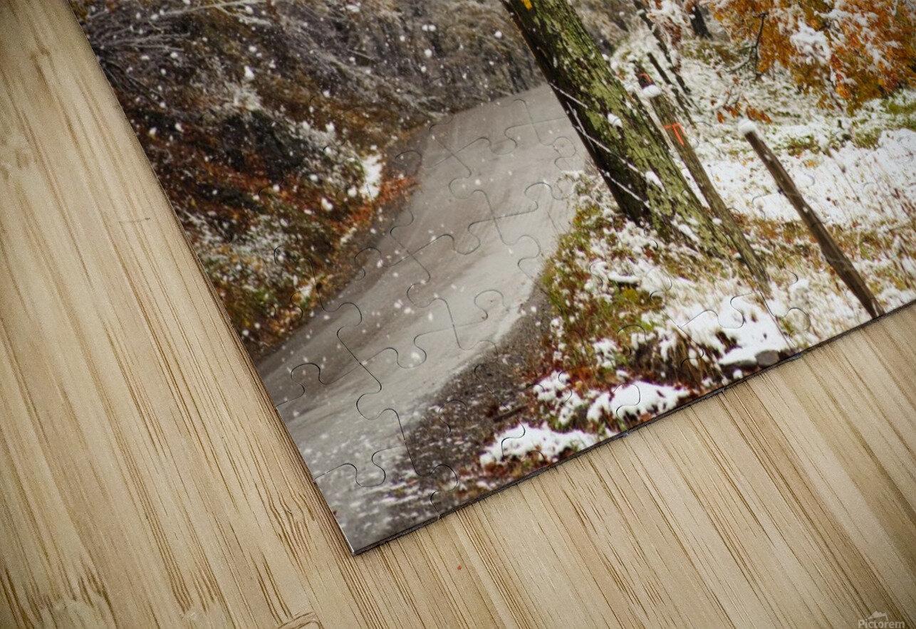 October snow Canaan Valley WVa HD Sublimation Metal print