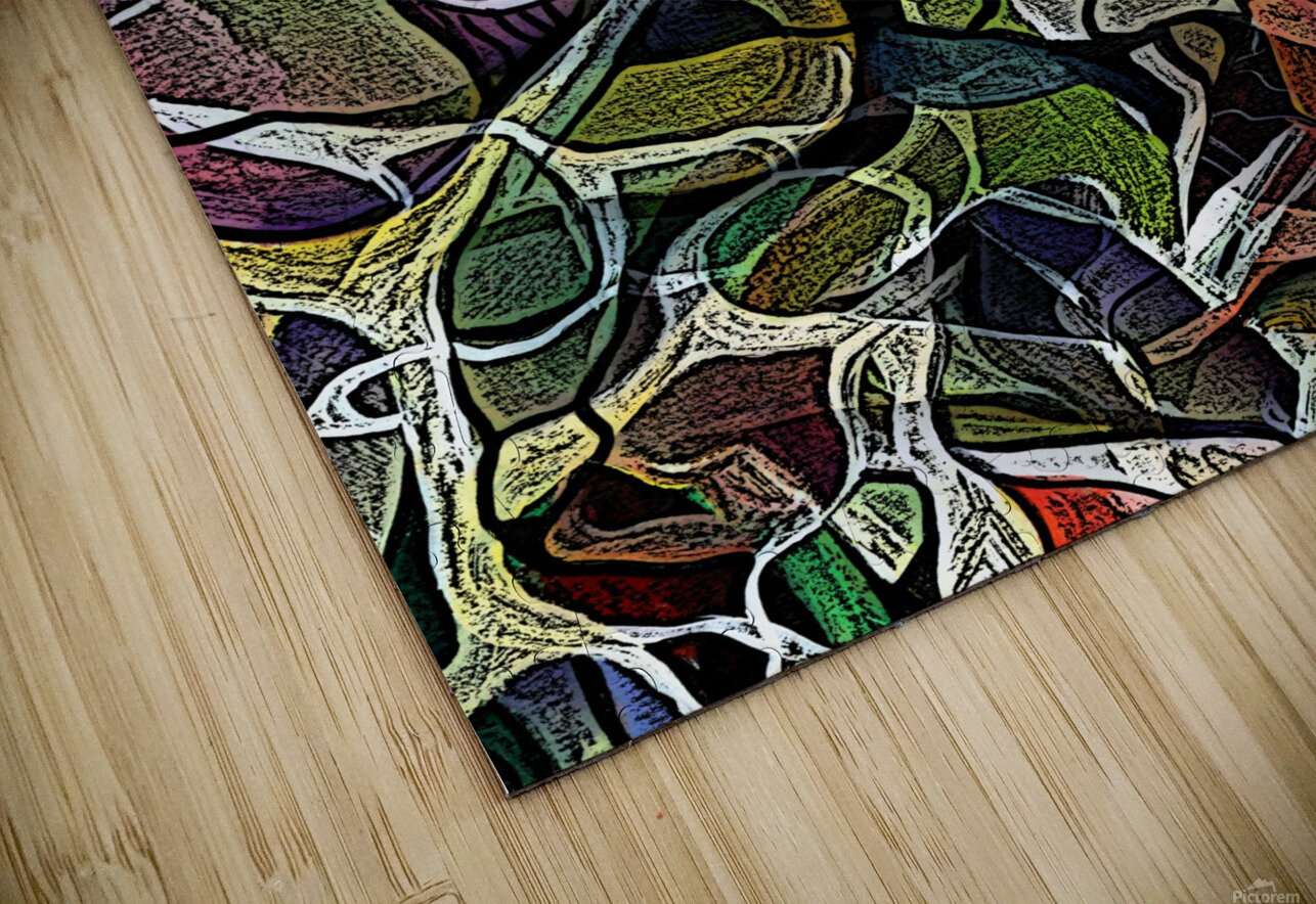 Linear Geometric Abstract  HD Sublimation Metal print
