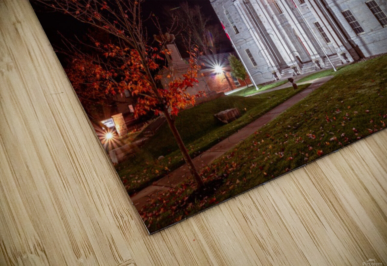 Courthouse Autumn Night HD Sublimation Metal print