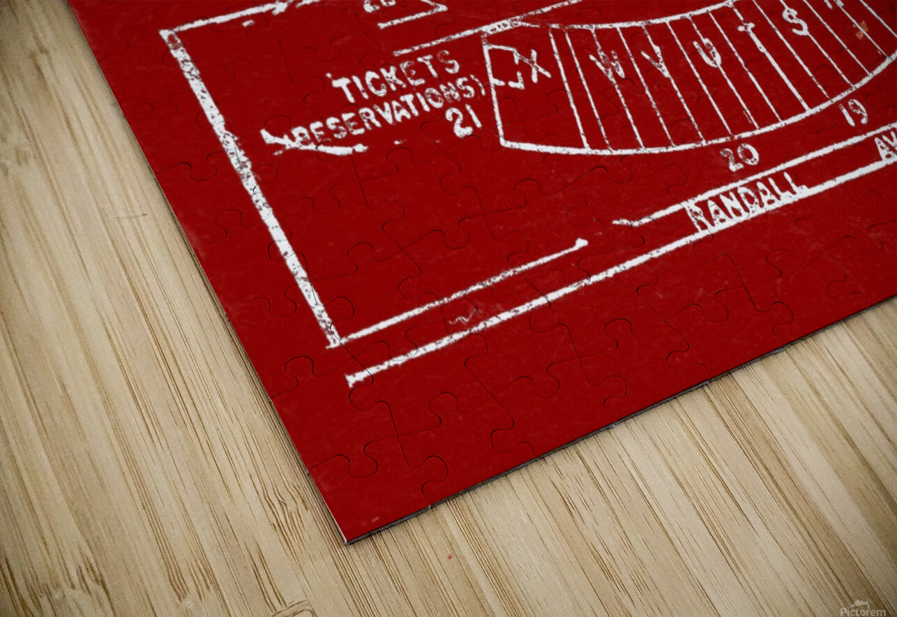 1957 camp randall map art HD Sublimation Metal print