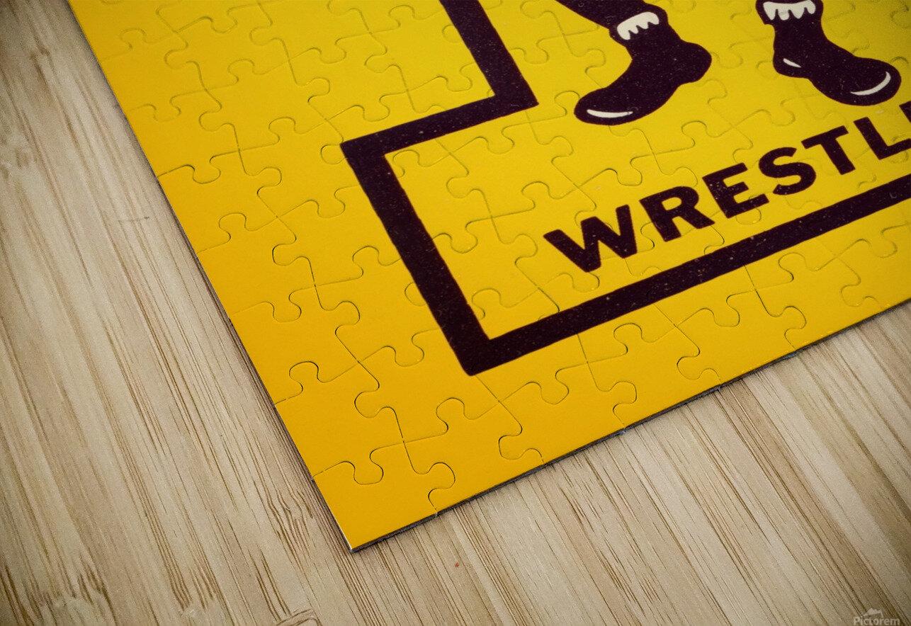 Vintage Iowa Wrestling Art HD Sublimation Metal print