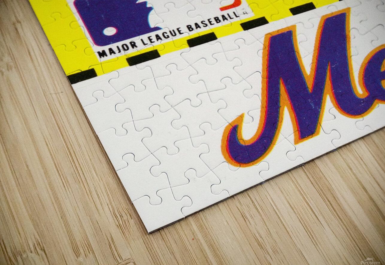 1981 New York Mets Fleer Decal Art HD Sublimation Metal print