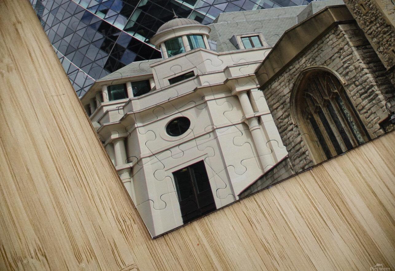 London old and new Impression de sublimation métal HD