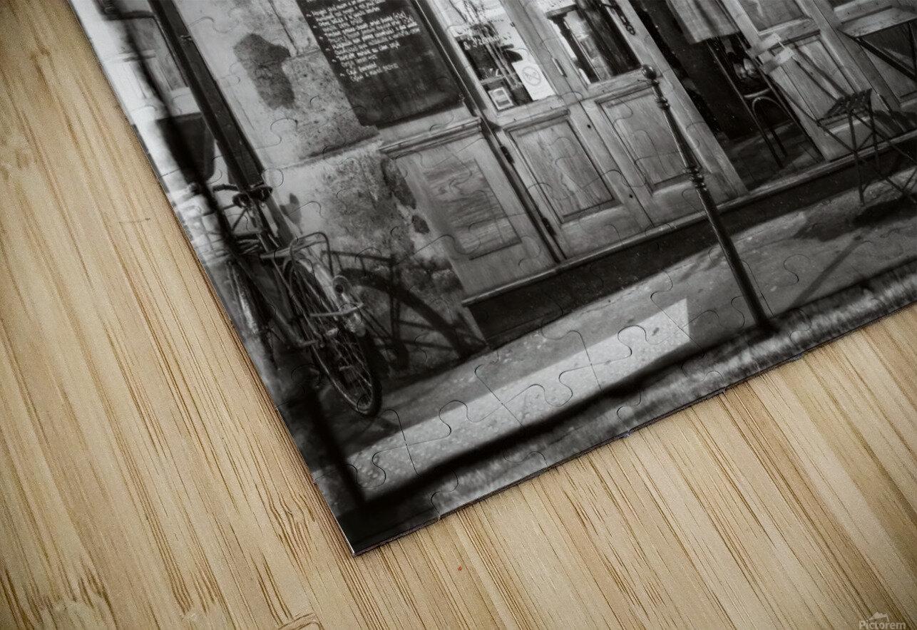 Cafe on street of Montmartre, Paris HD Sublimation Metal print