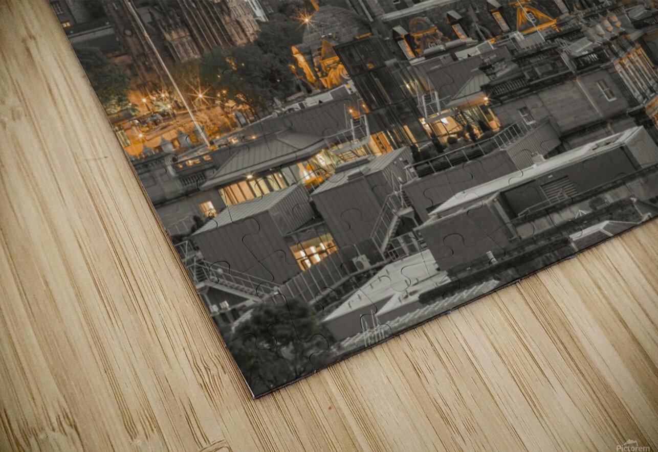 Edinburgh Castle and The Balmoral Hotel, Scotland HD Sublimation Metal print