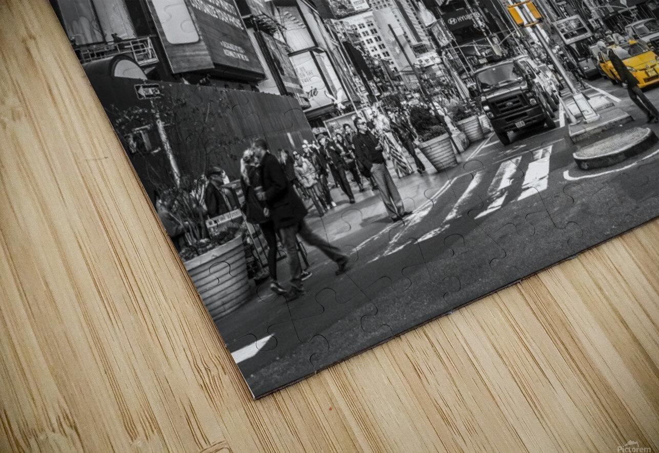 Traffic signal on broadway Times Square,  Manhattan, New York City HD Sublimation Metal print