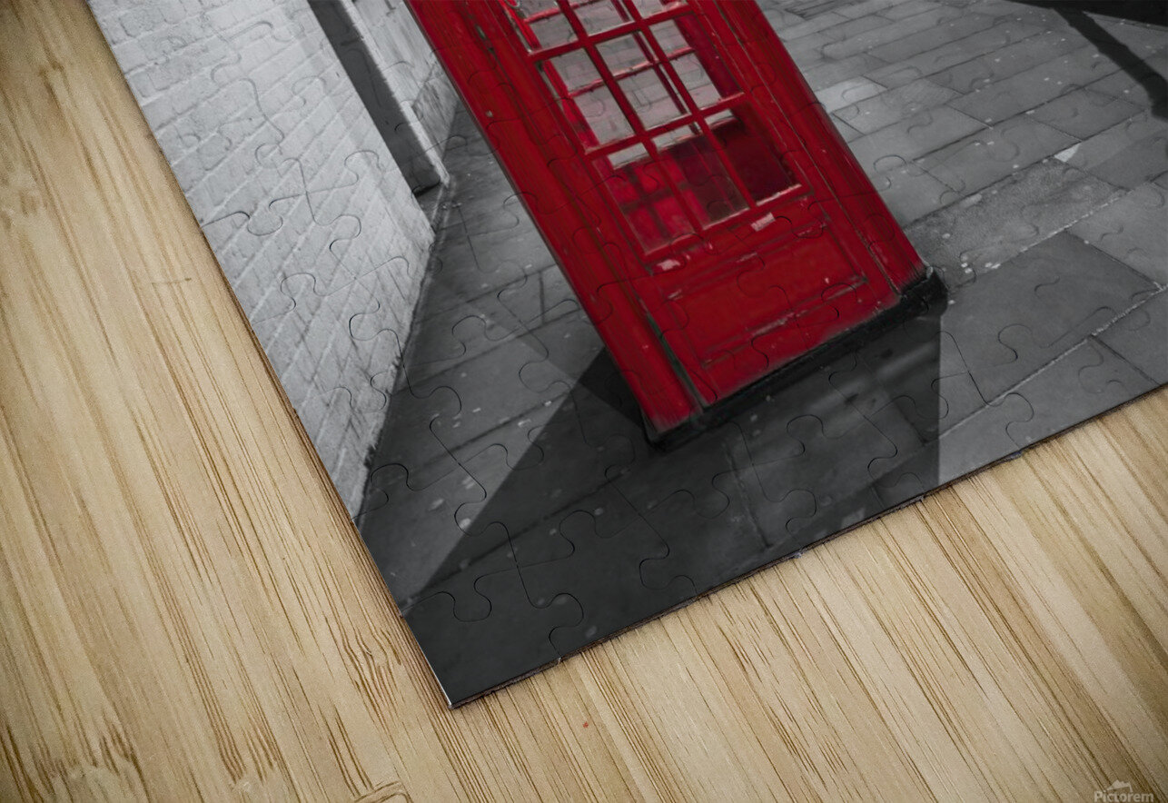 Telephone box with Big Ben, London, Uk HD Sublimation Metal print