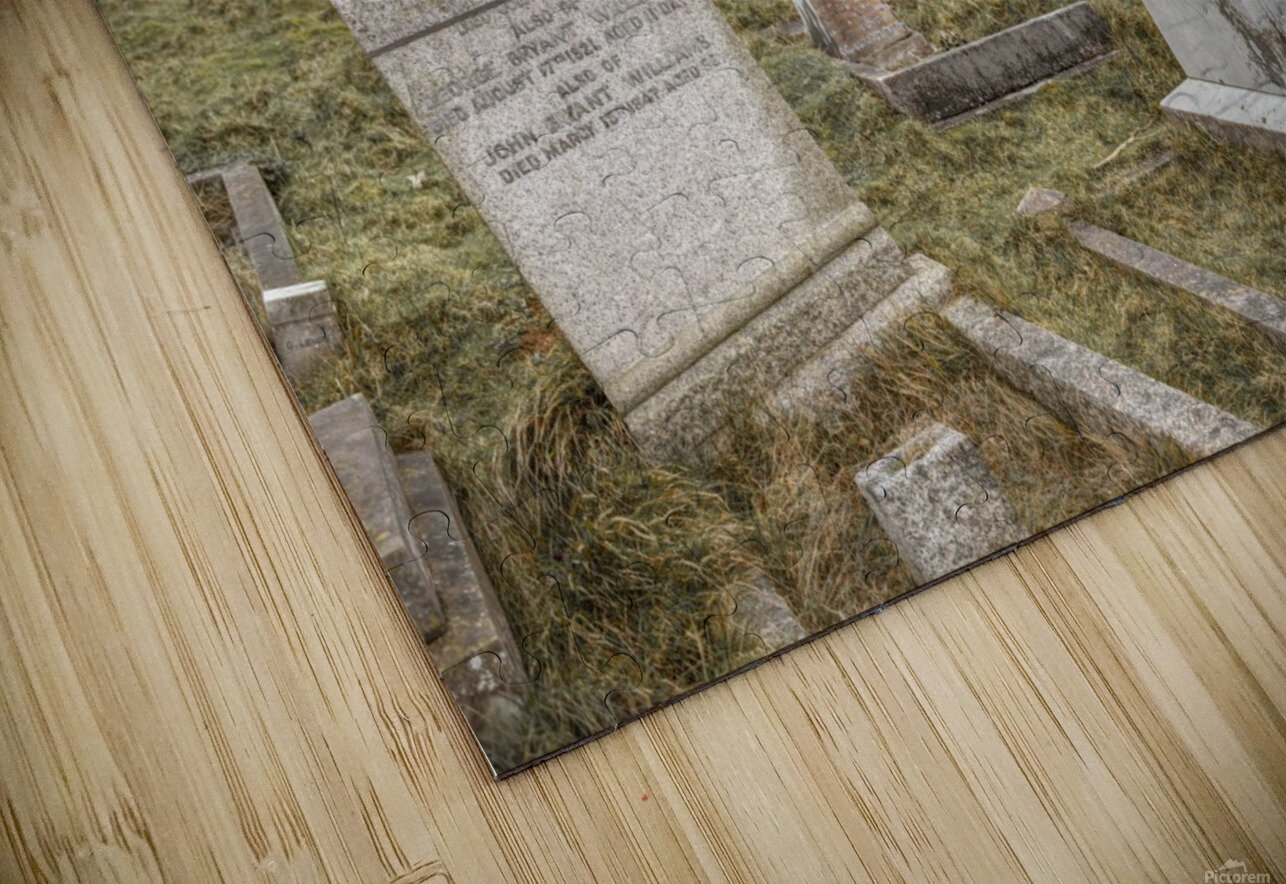 Cemetery in Llandudno, North Wales HD Sublimation Metal print