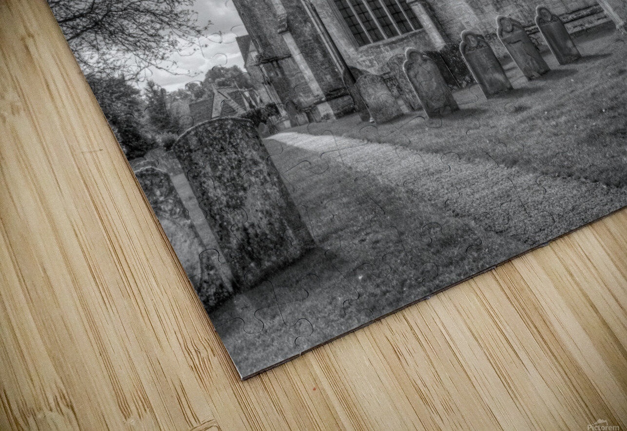 Old church in Northleach town, Cotswolds, UK HD Sublimation Metal print