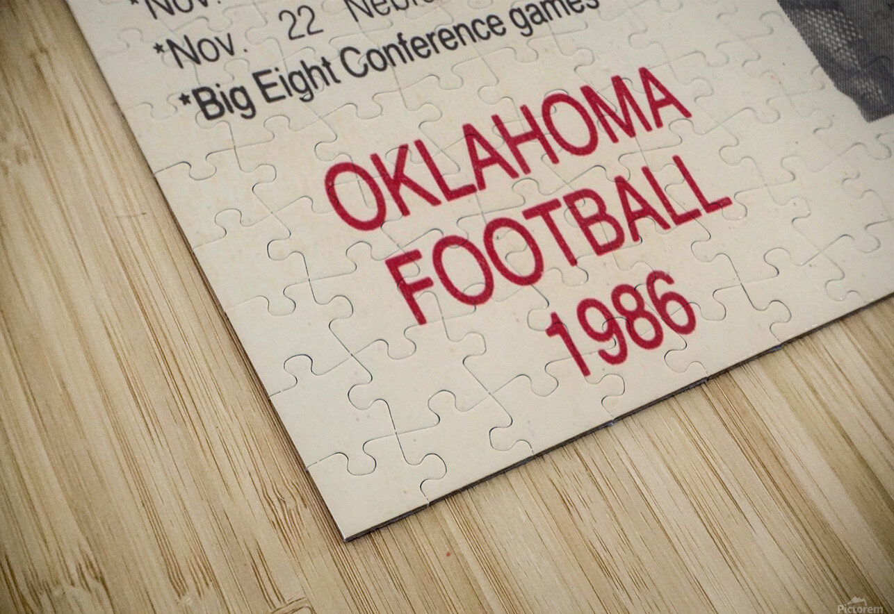 1986 Oklahoma Football Brian Bosworth HD Sublimation Metal print