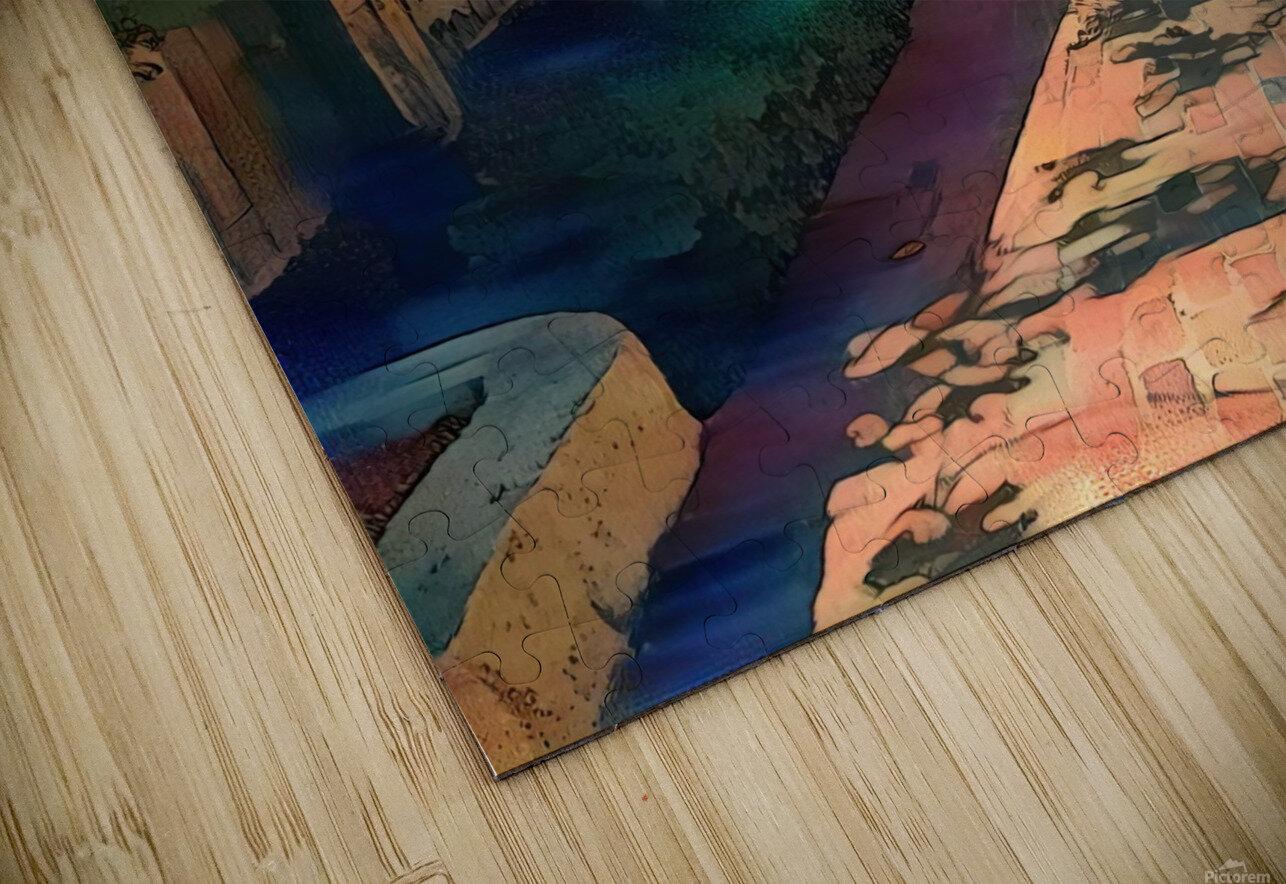 Hokusai alley HD Sublimation Metal print