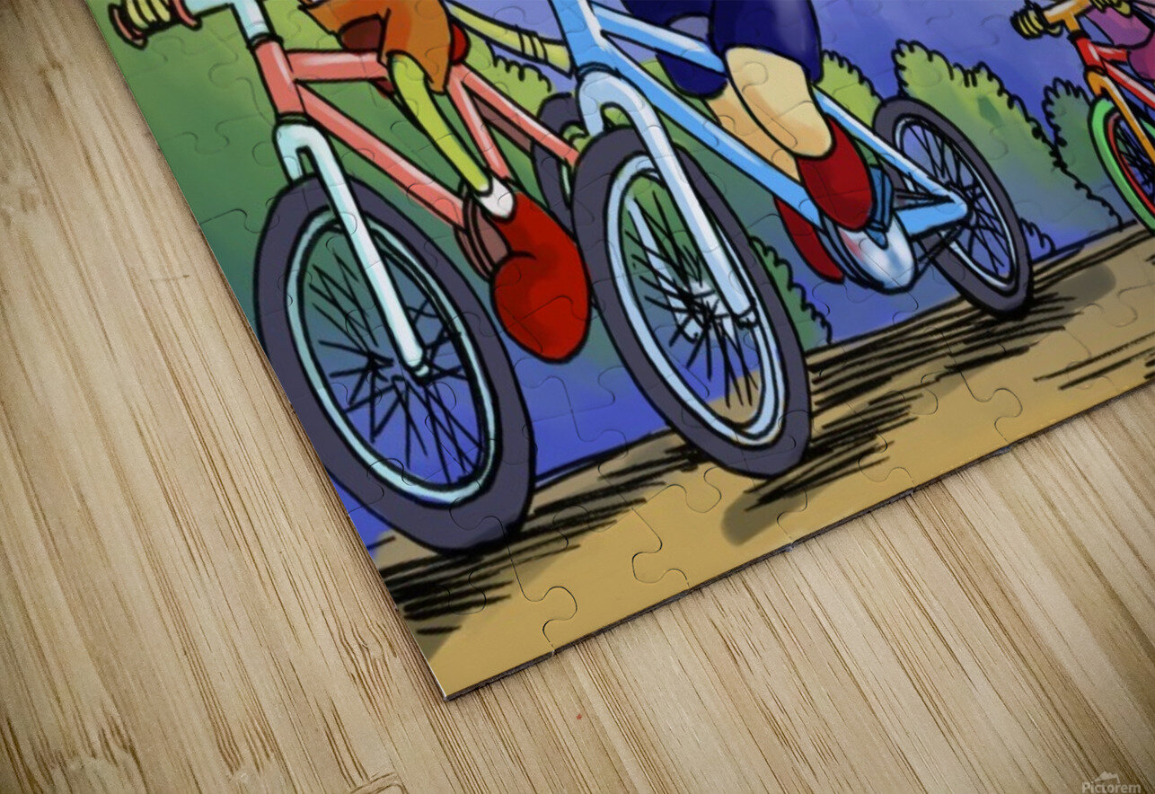 A Dream of Summer - Bikes HD Sublimation Metal print