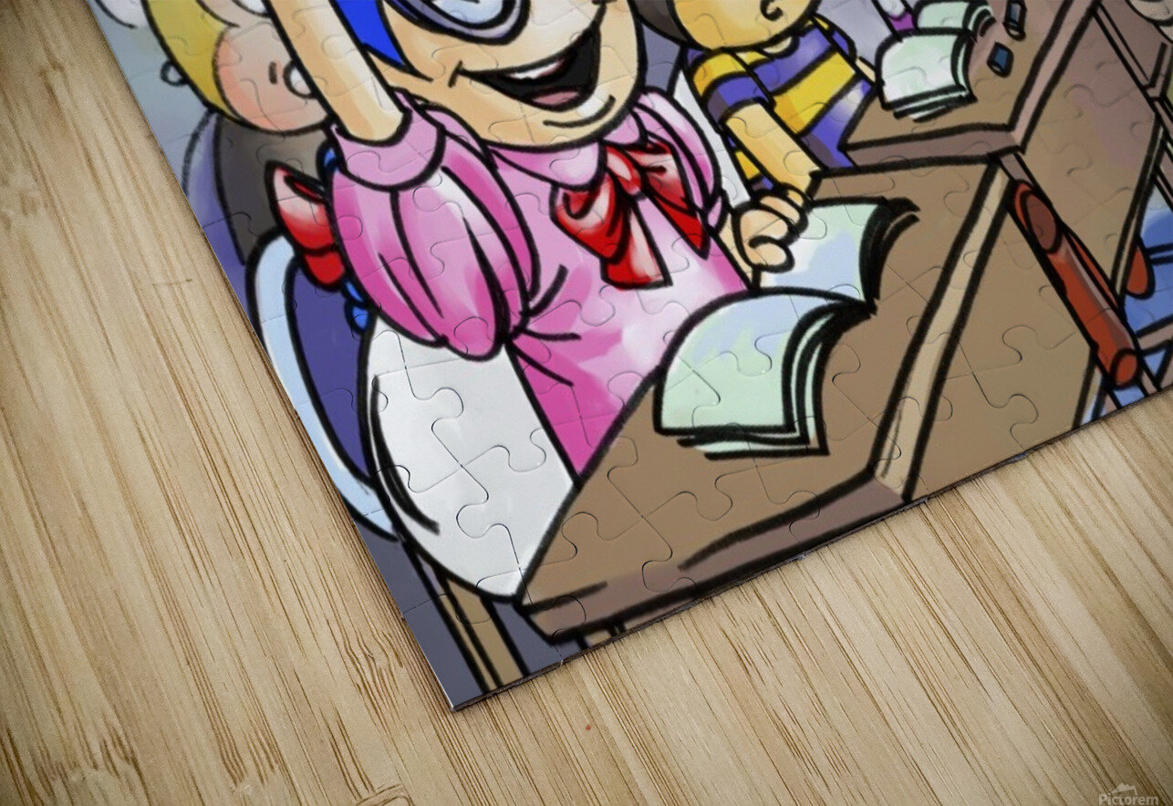 School Days - Classroom HD Sublimation Metal print