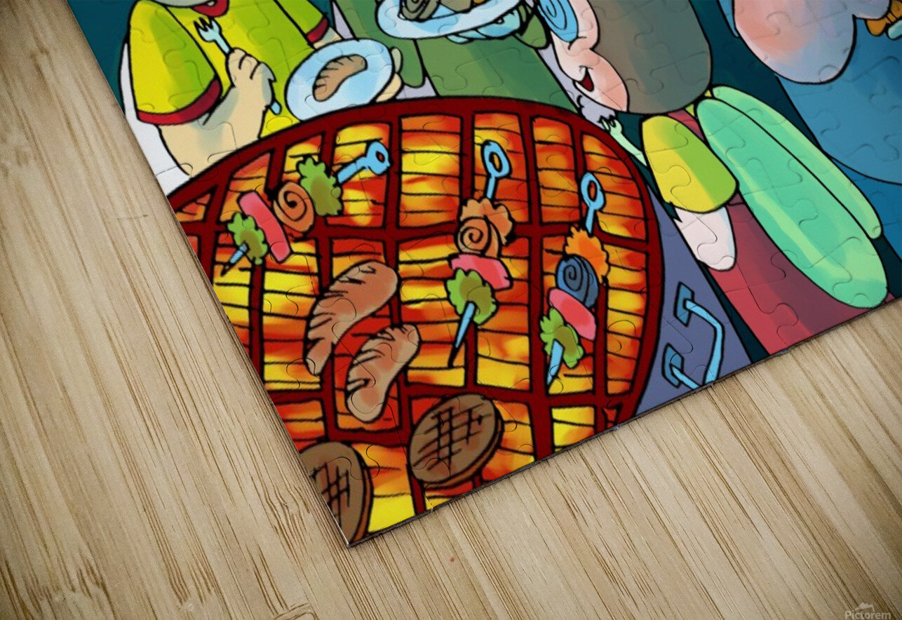 Summer Camp - Cookout  HD Sublimation Metal print