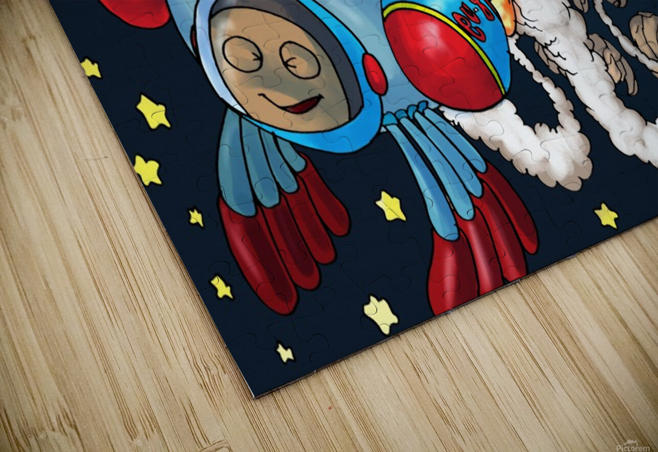 Buzzing Around the Solar System HD Sublimation Metal print