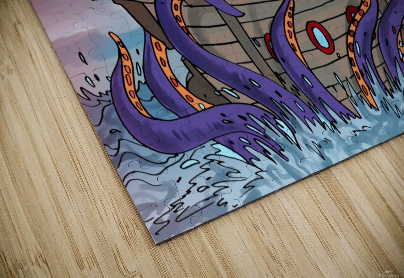 Sea Monster HD Sublimation Metal print