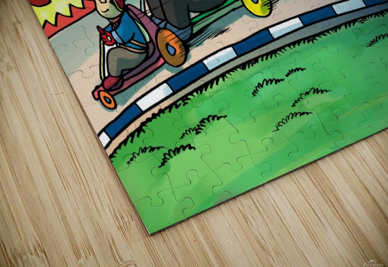 Go Karts - Bugville Critters HD Sublimation Metal print