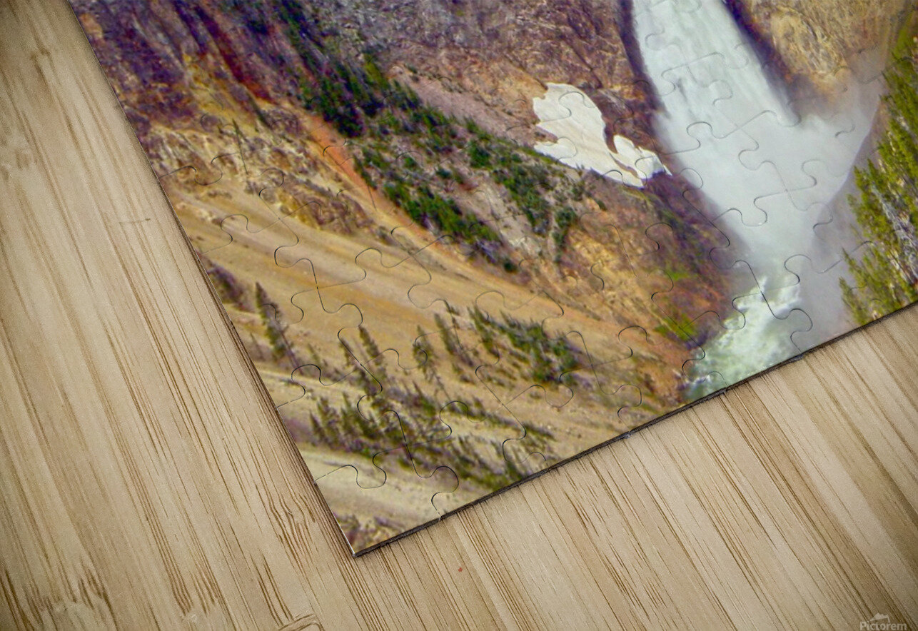 Mighty Yellowstone HD Sublimation Metal print
