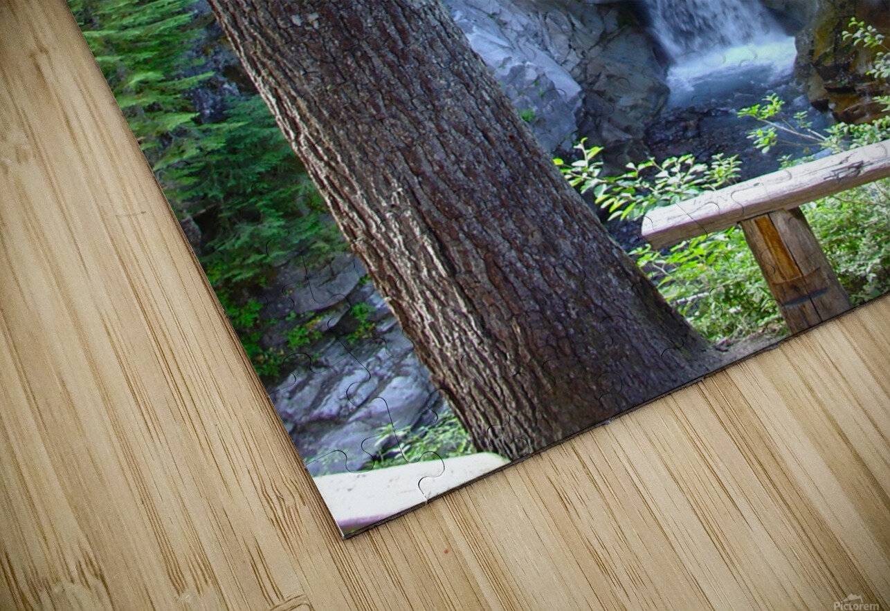 Christine Falls at Mount Rainier Pacific Northwest HD Sublimation Metal print