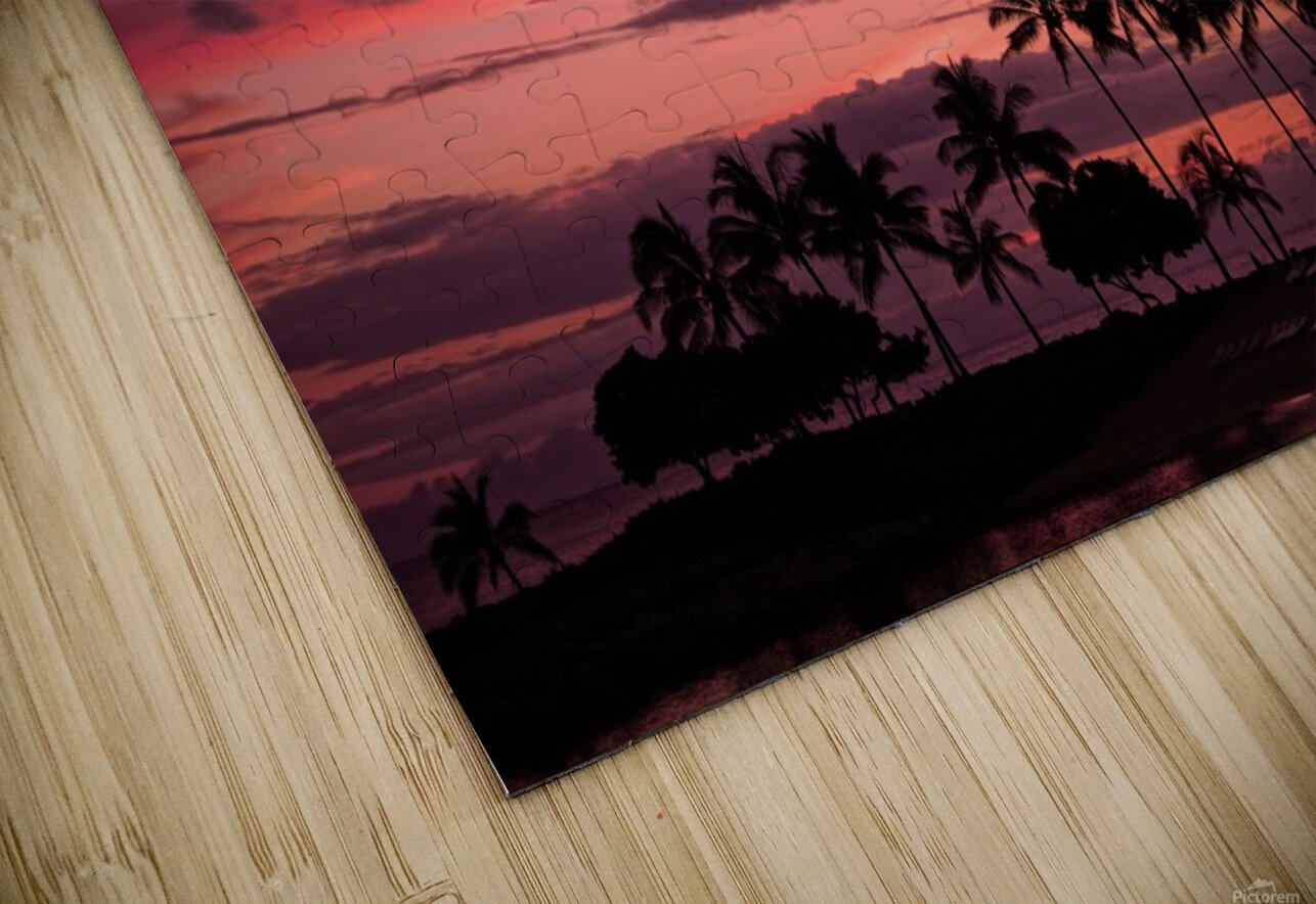 Ease into the Night HD Sublimation Metal print