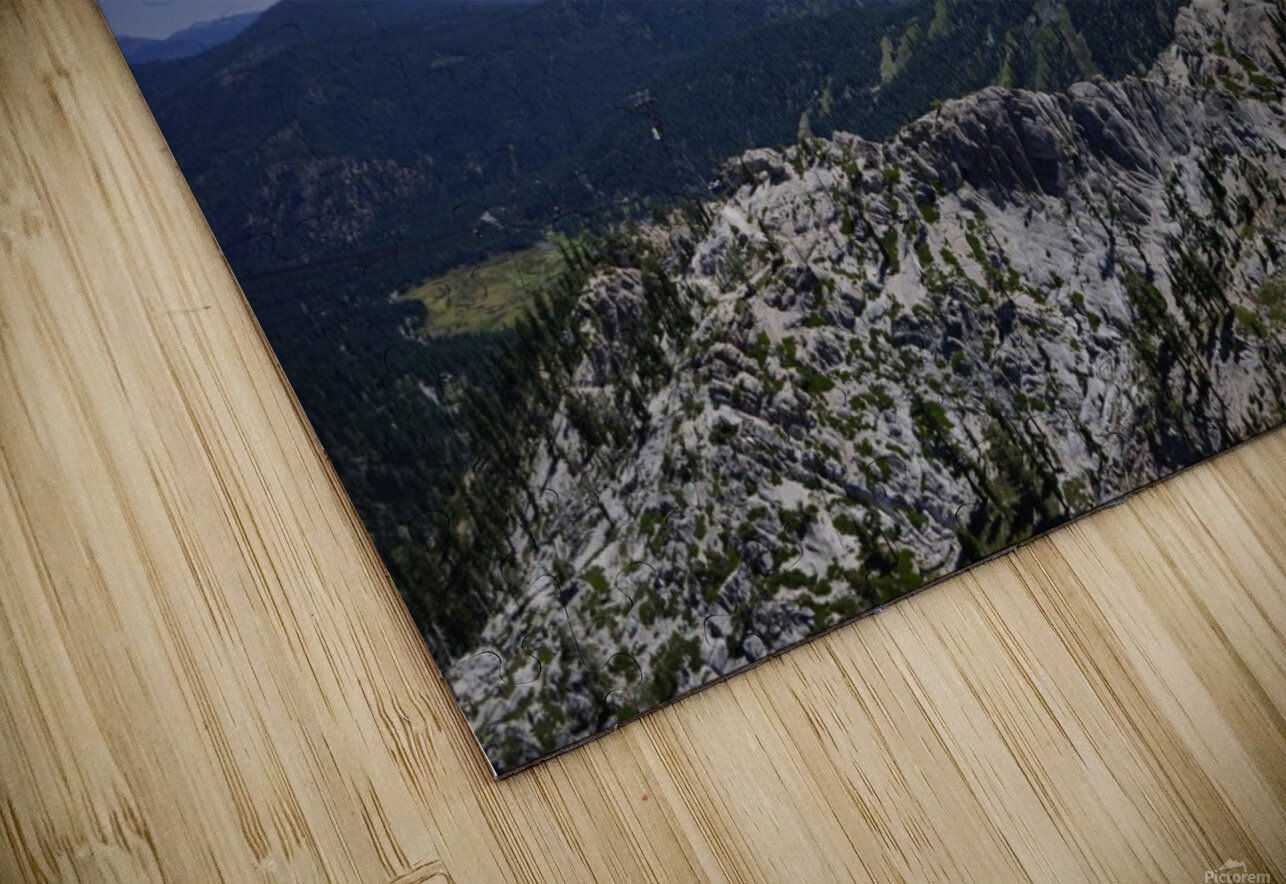 View from the Top @ Lake Tahoe HD Sublimation Metal print