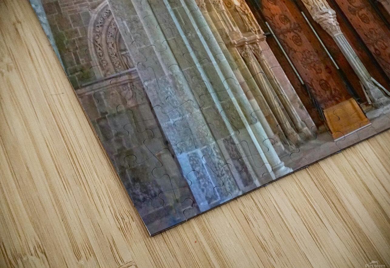 Basilica of Sainte Marie Madeleine 3 of 5 @  Vezelay France HD Sublimation Metal print