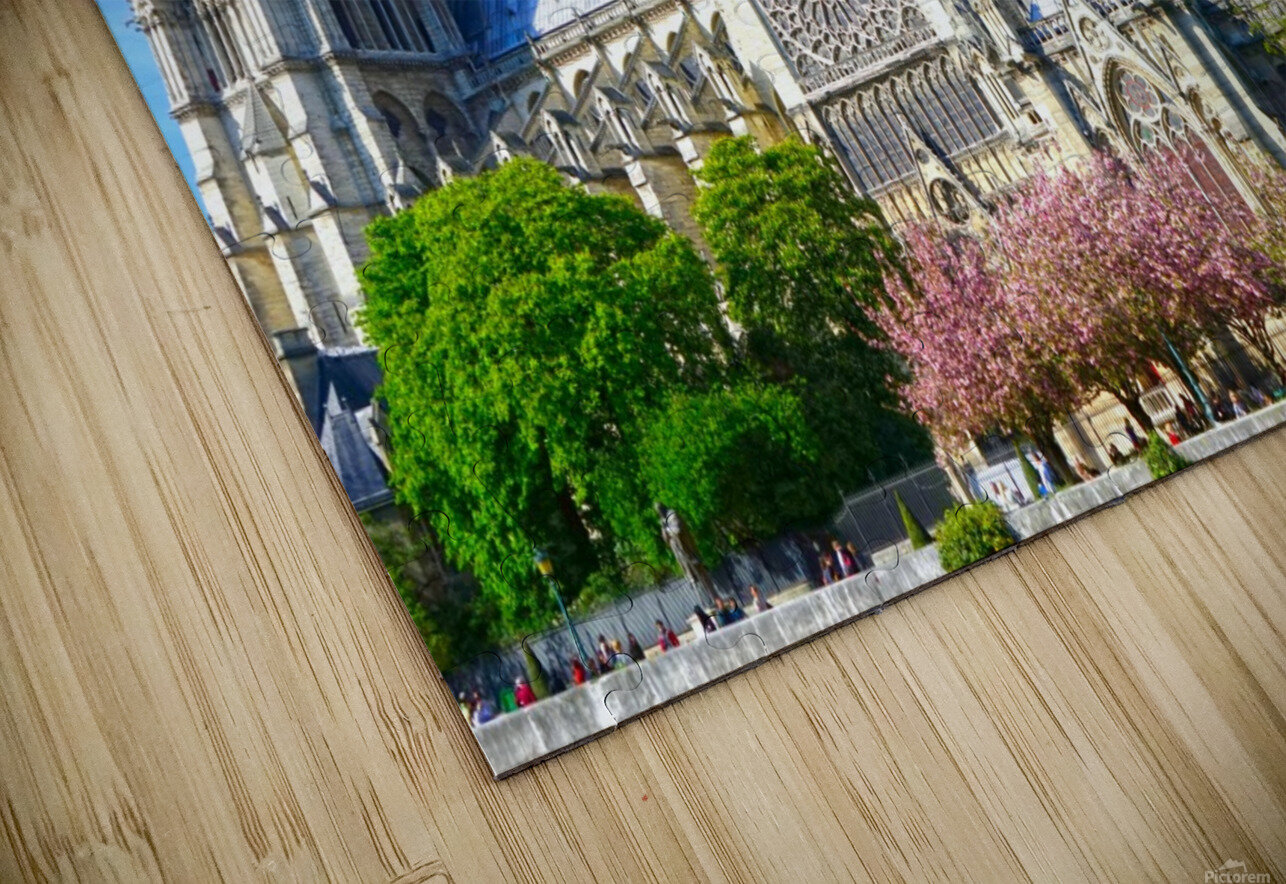 Notre Dame @ Paris HD Sublimation Metal print