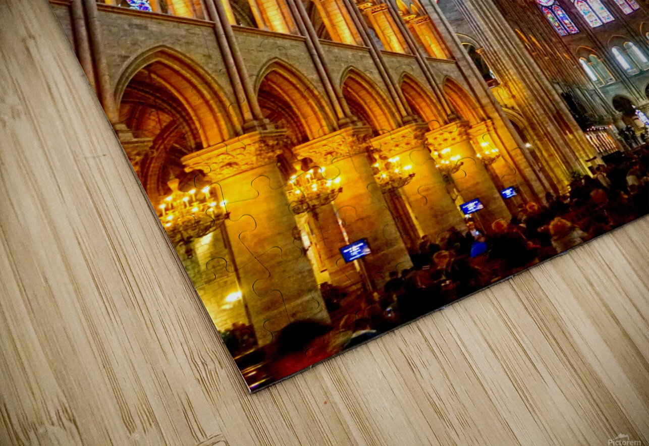 Jeanne d Arc and Saint Croix Cathedral at Orleans   France 2 of 7 HD Sublimation Metal print