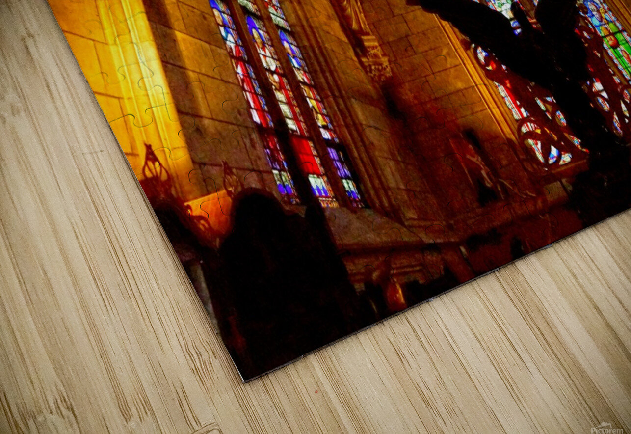 Jeanne d Arc and Saint Croix Cathedral at Orleans   France 5 of 7 HD Sublimation Metal print