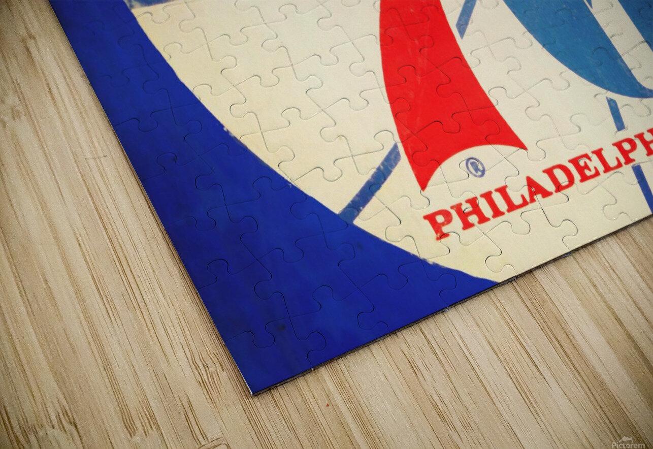 Vintage Philadelphia 76ers Art HD Sublimation Metal print