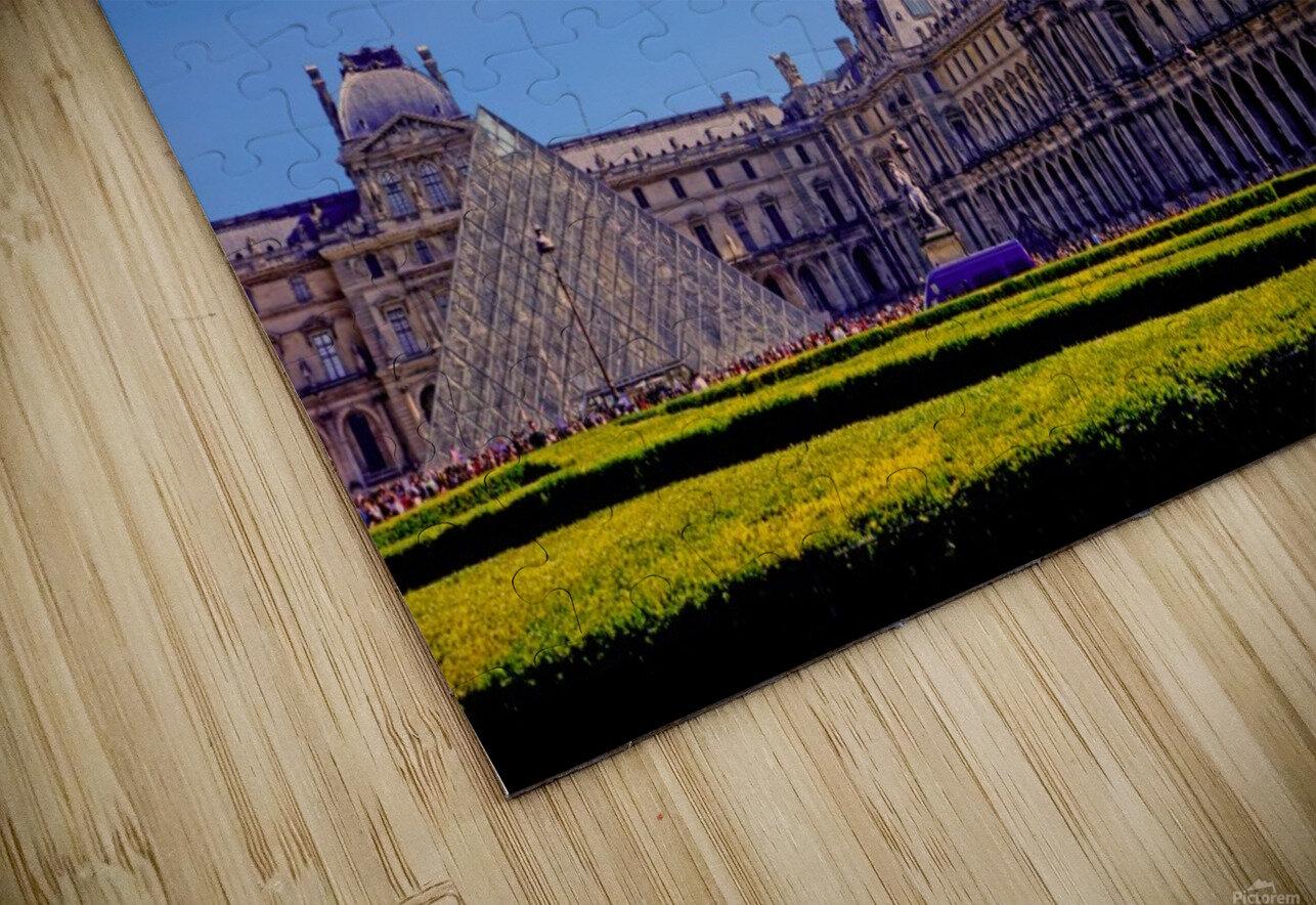The Louvre Paris 1st Arrondissement Paris HD Sublimation Metal print