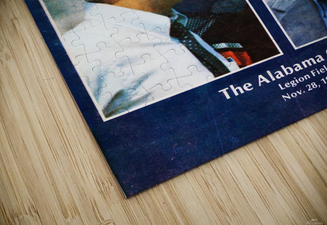 1981 Alabama vs. Auburn Program Cover HD Sublimation Metal print