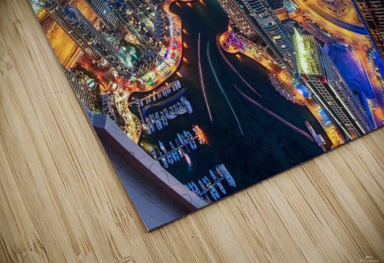 Dubai Colors of Night HD Sublimation Metal print