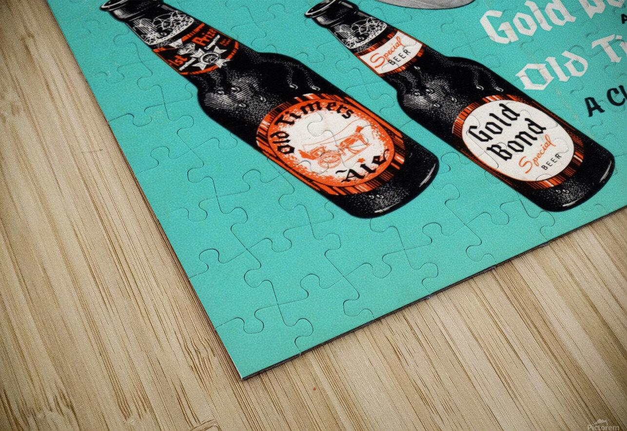 1955 Cleveland Browns Gold Bond Beer Ad HD Sublimation Metal print