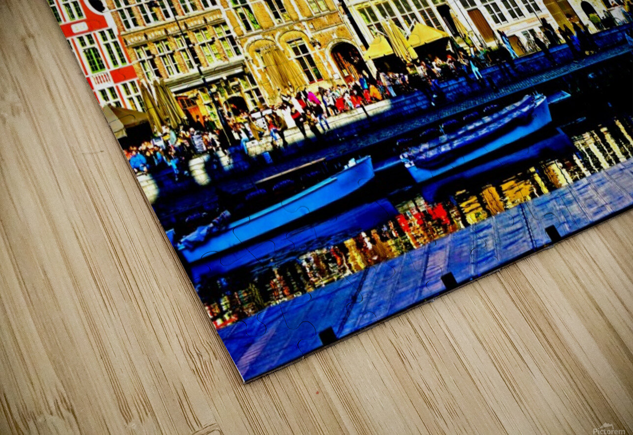 Passport to Belgium 3 of 5 HD Sublimation Metal print