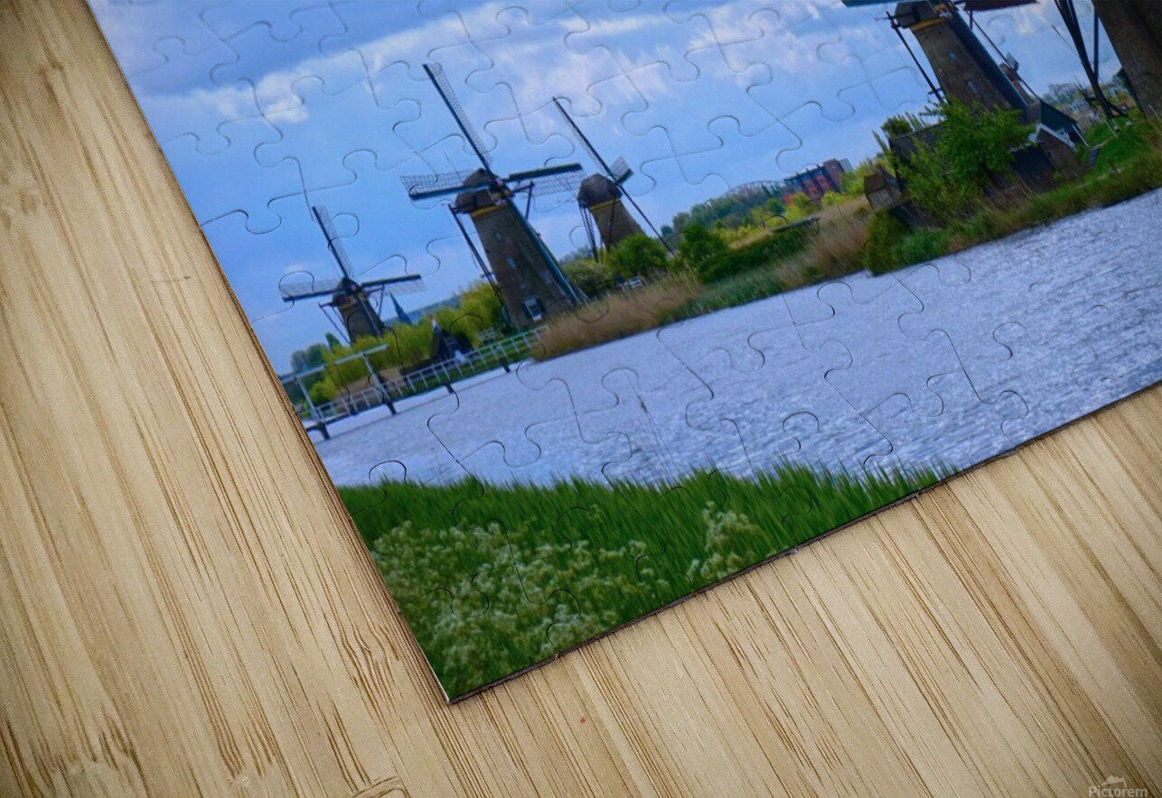 Windmills of the Netherlands 1 of 4 HD Sublimation Metal print