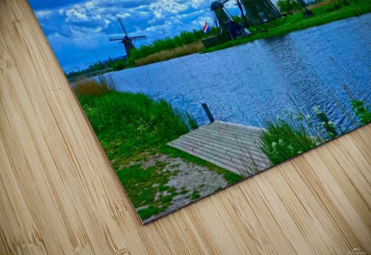 Windmills of the Netherlands 2 of 4 HD Sublimation Metal print