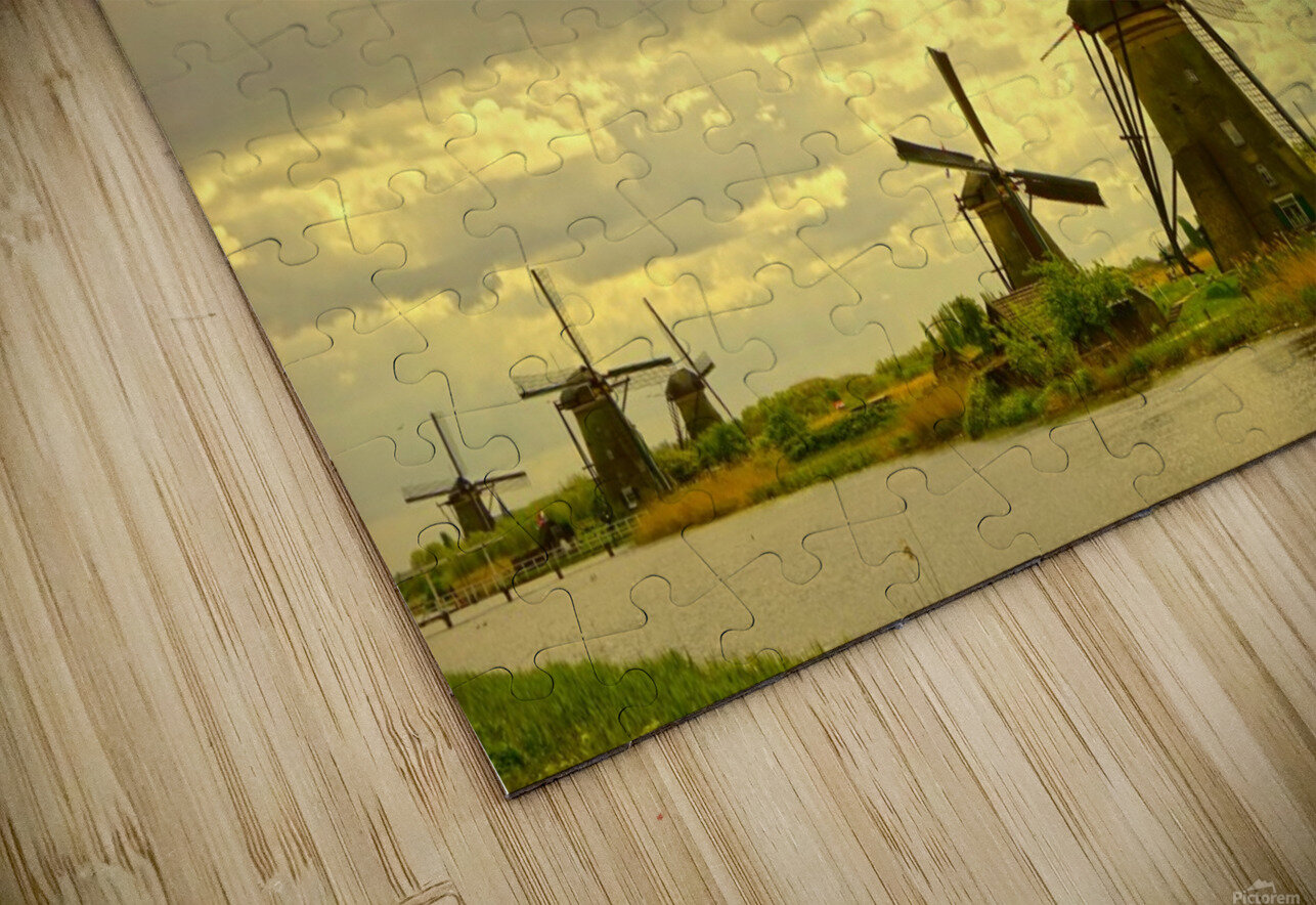 Windmills at Sunset  HD Sublimation Metal print