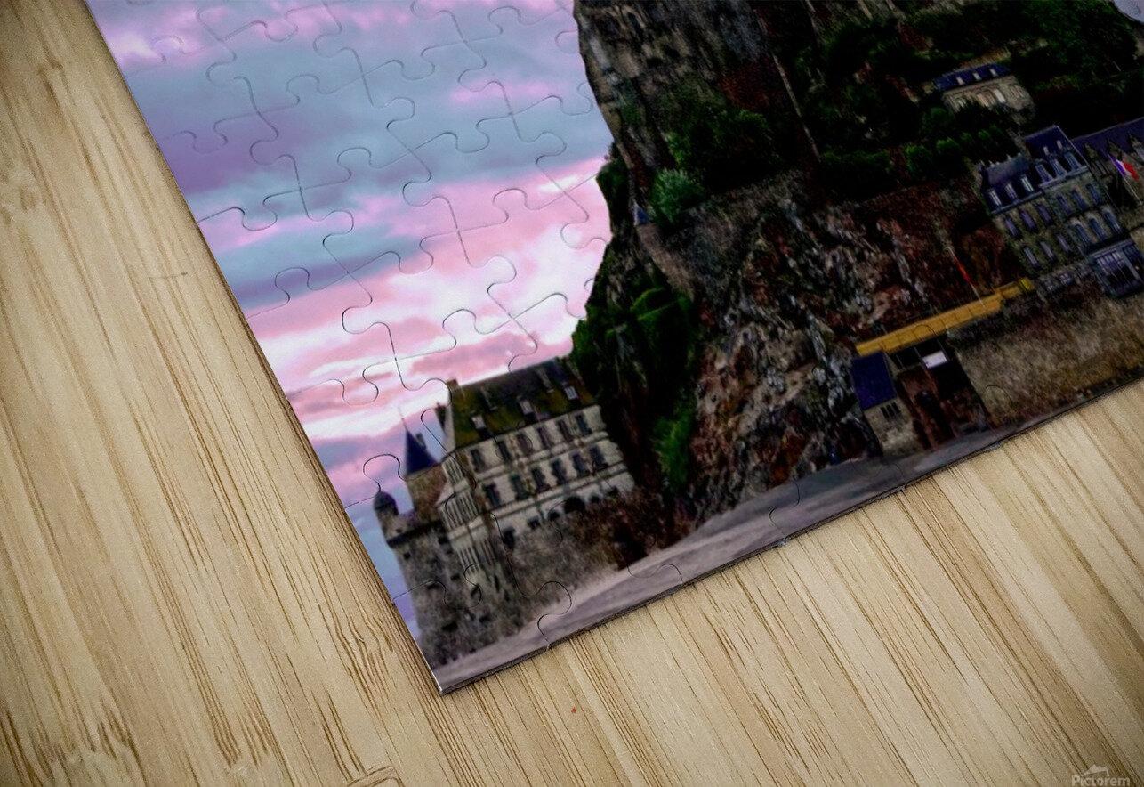 Mont St Michel at Sunset HD Sublimation Metal print