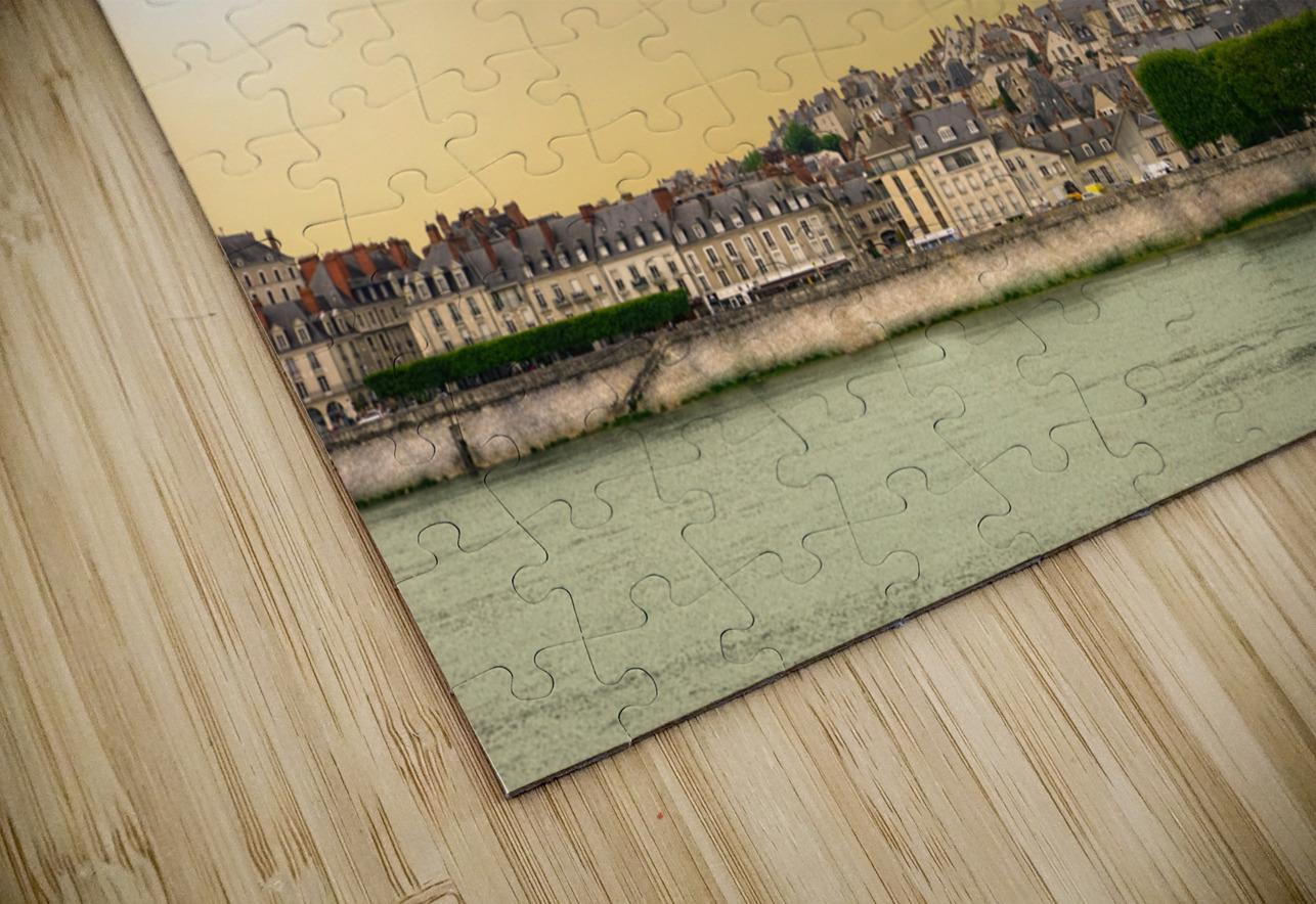 Blois and Cathedrale Saint Louis Across the Loire HD Sublimation Metal print