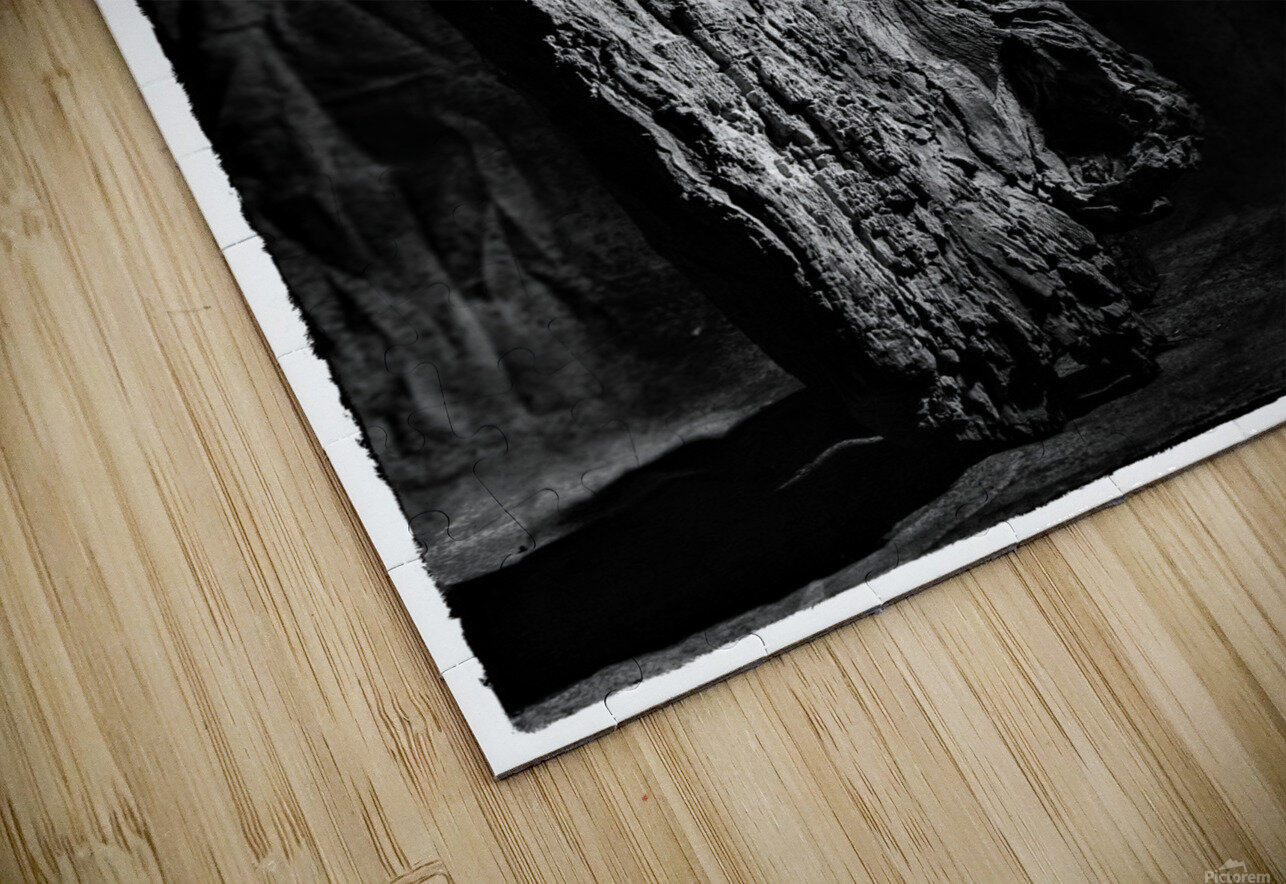 Black and white blues HD Sublimation Metal print