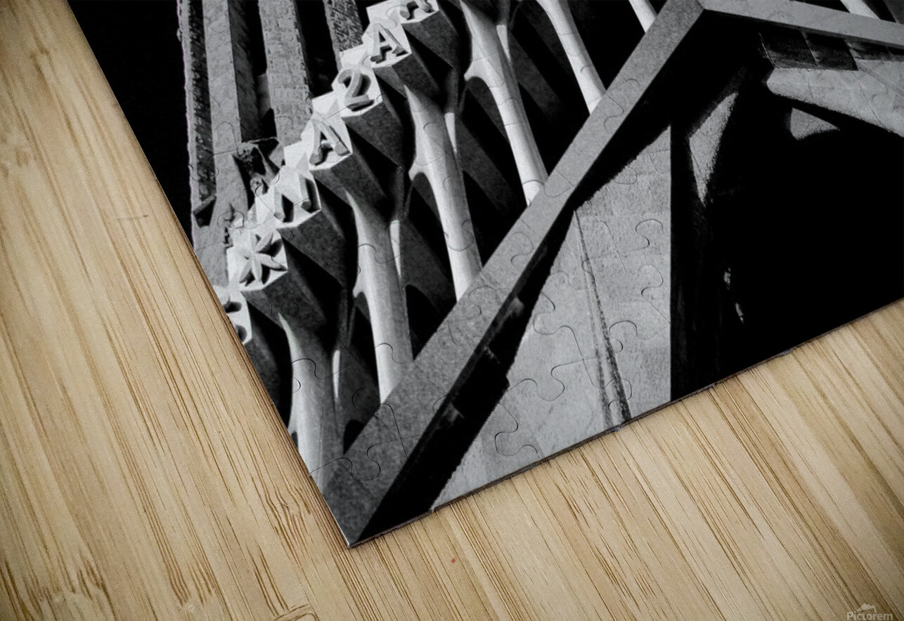 the Cathedral - La Sagrada Familia Impression de sublimation métal HD