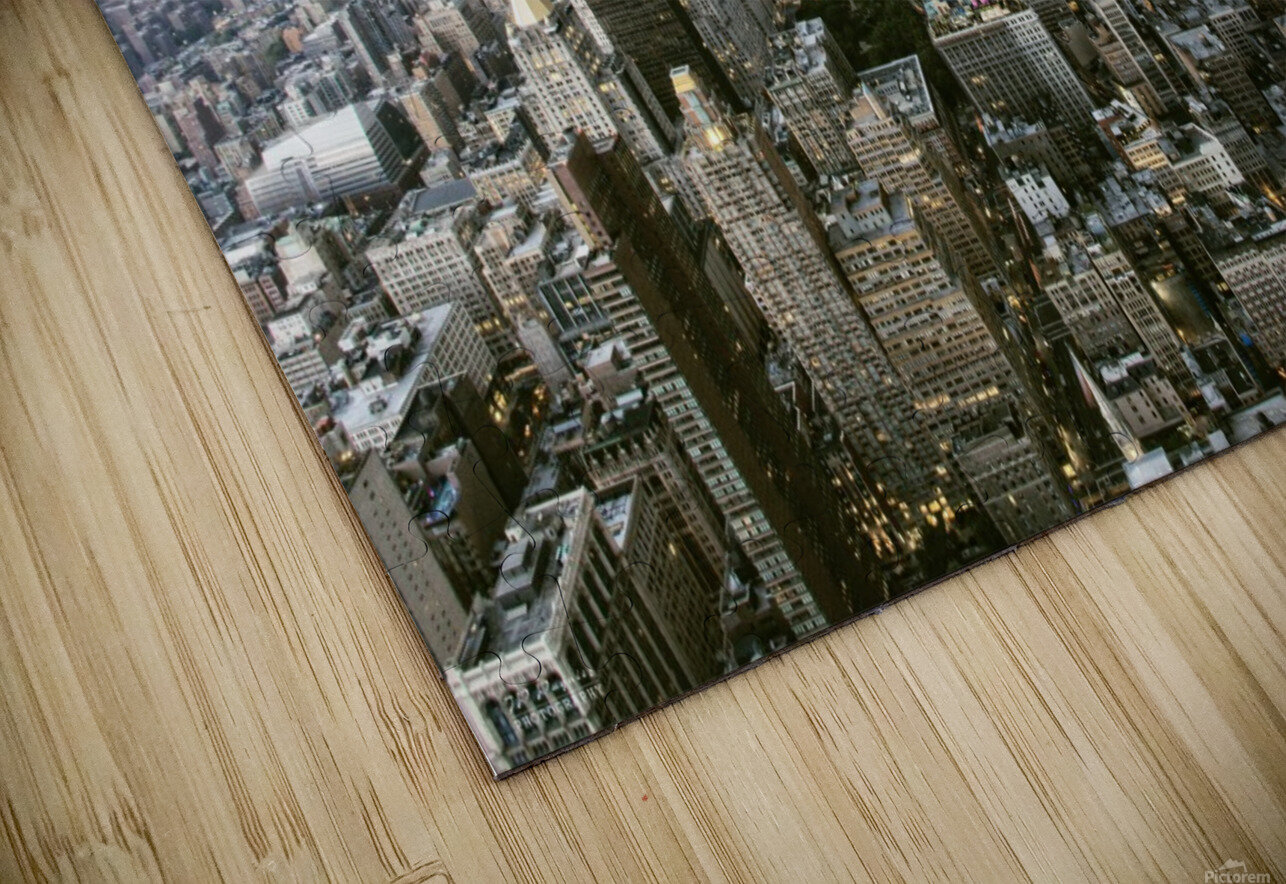 New-York under storm by Pagniez   HD Sublimation Metal print