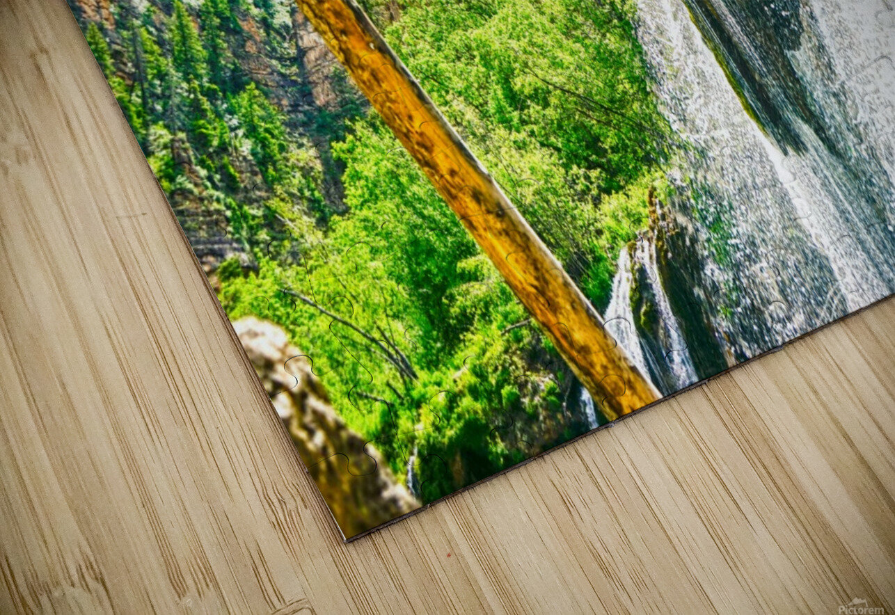 Waterfall Country Colorado 1 of 4 HD Sublimation Metal print