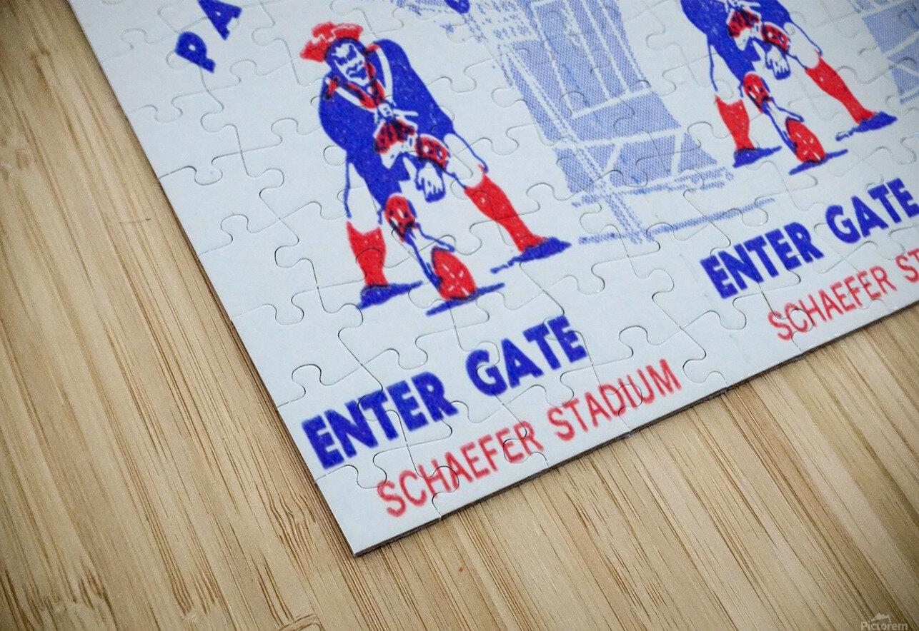 1973 New England Patriots Season Tickets HD Sublimation Metal print
