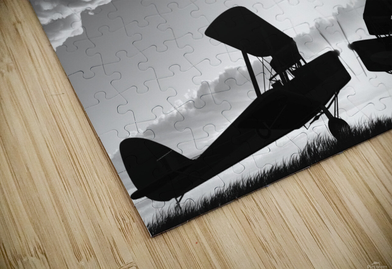 Biplanes Face Off HD Sublimation Metal print