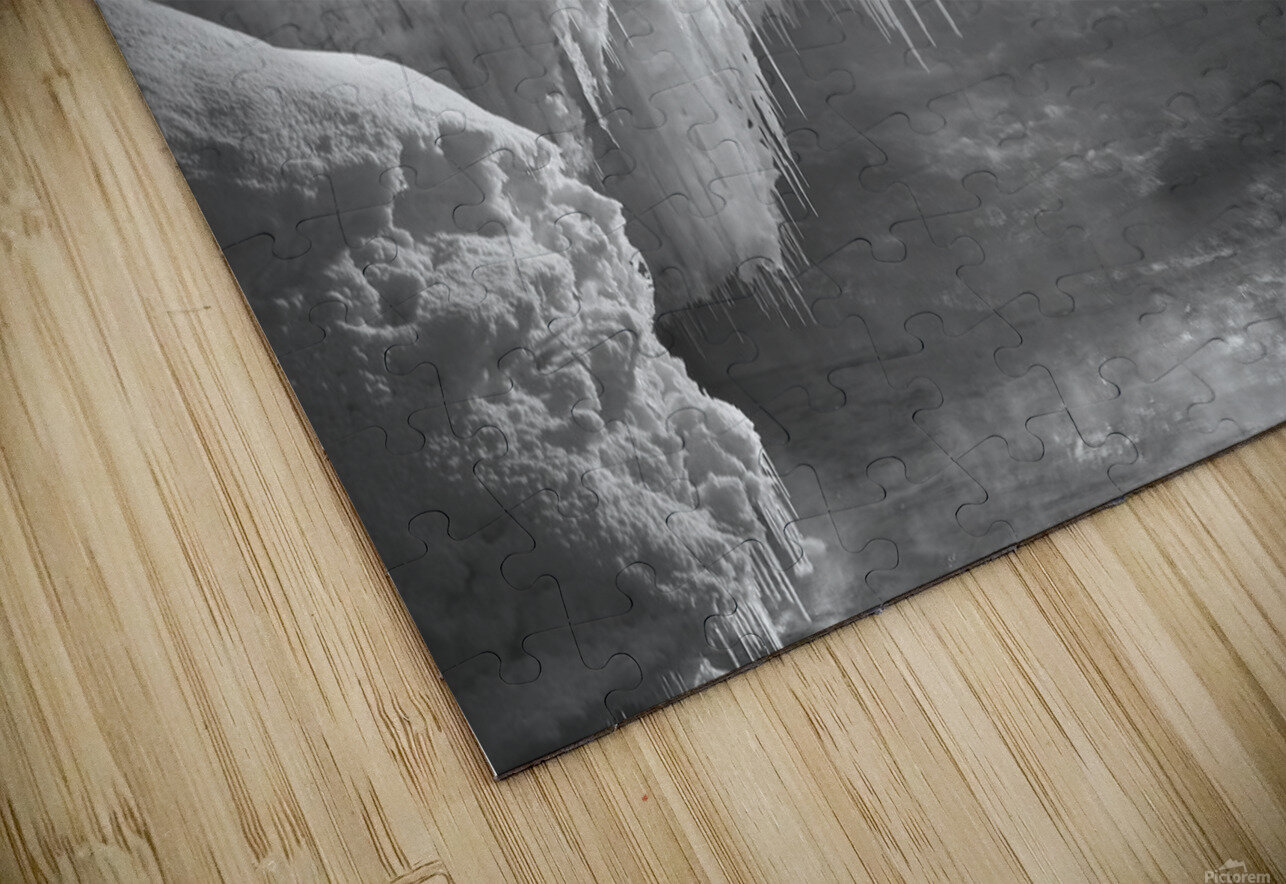 Winter River Smoke HD Sublimation Metal print
