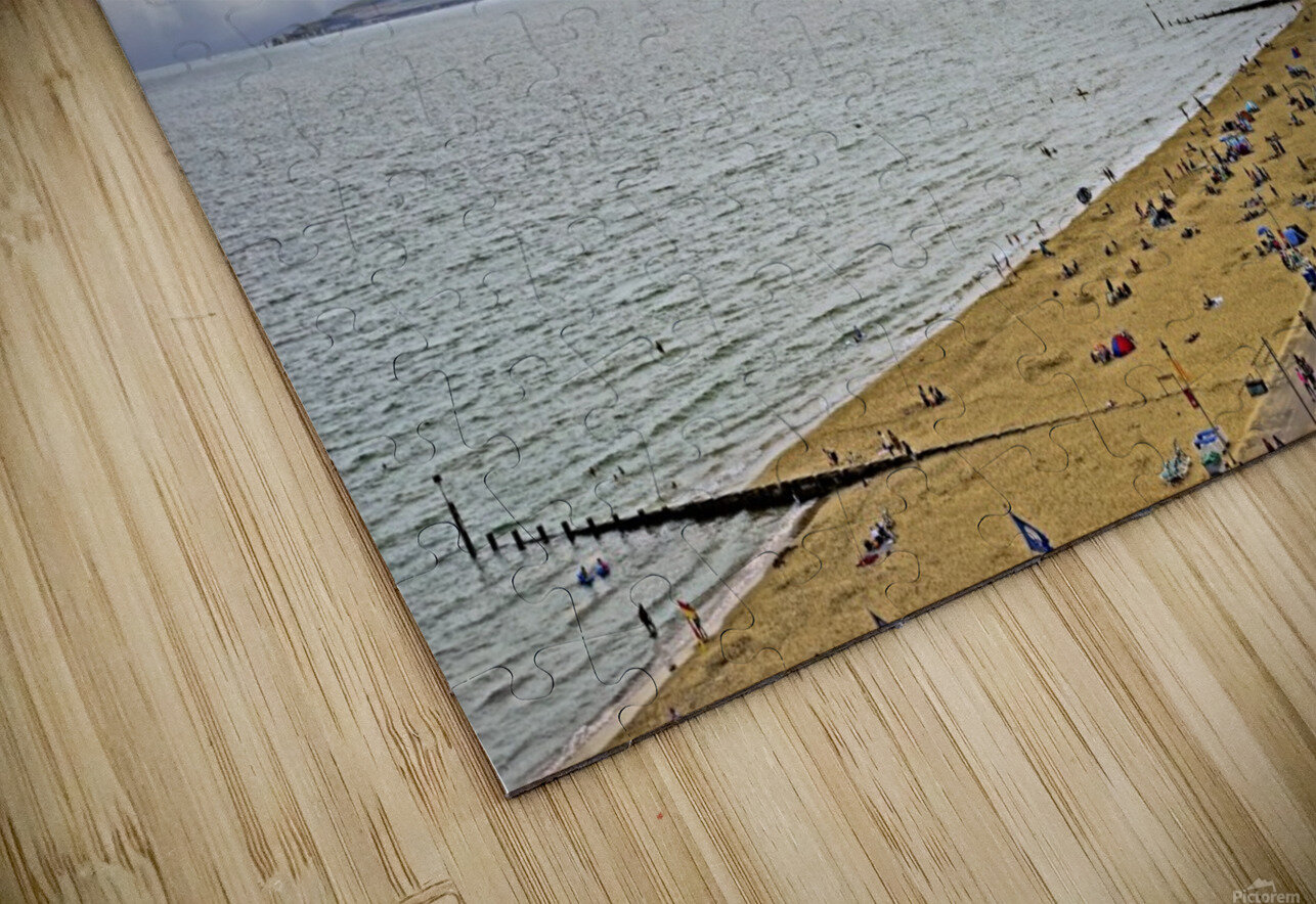 At the Beach in Southern England HD Sublimation Metal print